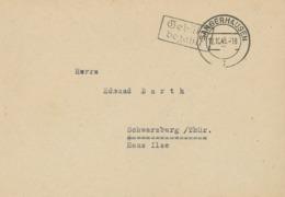 """Sangerhausen """"Gebühr Bezahlt"""" 12.10.1945 [KE-GR-21] - Zone Soviétique"""