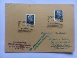 GERMANY 1970 Card MS Volkerfreundschaft Cachets + Handstamps Sent To Denmark - [6] Democratic Republic