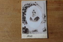 Armée Française Marine  Matelot Vers 1900  Bonnet Avec Bacchi  Photo Cabinet - Guerra, Militares