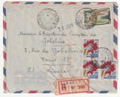 MADAGASCAR - LETTRE Recommandée : Analakely  Le 21/06/1960 - Madagascar (1960-...)