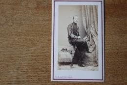 Cdv Second Empire Officier De Cavalerie  Hussard Ou Chasseur A Cheval  Par Barenne  Paris - Guerra, Militares