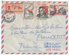 MADAGASCAR - LETTRE Recommandée : IVOHIBE Le 17/09/1960 - Madagascar (1960-...)