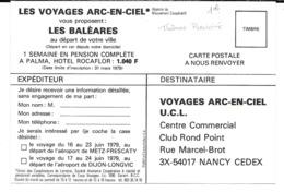 """Cpsm """" Les Voyages Arc-en-Ciel """" /.Les Baléares (juin 1979). - Publicidad"""
