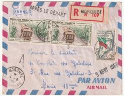 MADAGASCAR - LETTRE Recommandée : MOROMBE Le 04/08/1960 - Madagascar (1960-...)