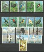 SAMOA  1988/1998  BIRDS   17V  MNH - Oiseaux
