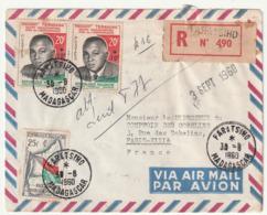 MADAGASCAR - LETTRE Recommandée : FARATSIHO Le 30/08/1960 - Madagascar (1960-...)