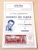 Programme Soirée De Gala Ciné Music Hall Novelty Clermont Ferrand Autographe André Dassary Raymond Girerd - Autógrafos