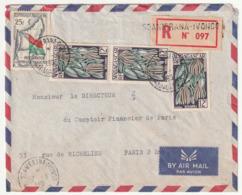 MADAGASCAR - LETTRE Recommandée : SOANIERANA-IVONGO Le 07/03/1961 - Madagascar (1960-...)