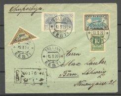 Estland Estonia 1920 Air Mail Flugpost Ice Flight 13.03.1920 Via Helsinki To Bern Switzerland - Estland