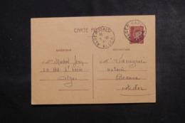 ALGÉRIE - Entier Postal Type Pétain De Alger Pour Beaune En 1941 - L 44652 - Algeria (1924-1962)