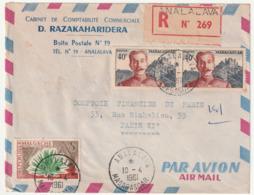 MADAGASCAR - LETTRE Recommandée : ANALALAVA Le 10/04/1961 - Madagascar (1960-...)
