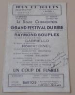Programme Festival Du Rire Ciné Music Hall Novelty Clermont Ferrand Raymond Souplex Gabriello Catherine Gay (autographe) - Autógrafos
