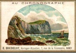 CHROMO  AU CHRONOGRAPHE E. HOUDELOT NANCY   MER AGITEE - Cromo