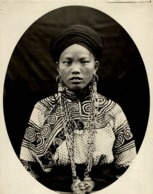 HAUT TOUKUS FEMME PEU MEO BLANC  CLICHÉ TETART INDOCHINE INDO CHINA ASIA 23*17CM Fonds Victor FORBIN 1864-1947 - Photos