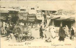 TUNIS PLACE BAB SUIKA PHOTO GARRIGUES VOIR TIMBRE ET CACHET - Tunisie