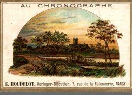 CHROMO  AU CHRONOGRAPHE E. HOUDELOT NANCY  LE CHATEAU A LA CAMPAGNE - Cromo