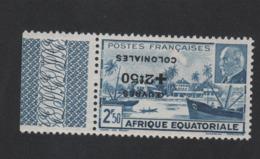 Faux Afrique équatorale N° 195a Surcharge Renversée Gomme Sans Charnière - A.E.F. (1936-1958)