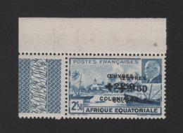 Faux Afrique équatorale N° 195b Double Surcharge Gomme Sans Charnière - A.E.F. (1936-1958)