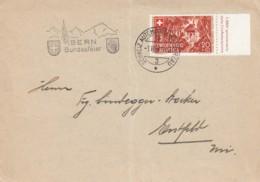No 14c Sur Lettre Oblitérée Schweiz,Automobil-Postbureau ( 3 ) Le 1.VIII.41 - Attestation Berra, Lettre Signée - Pro Patria
