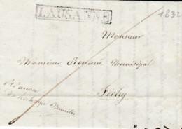 Petite Lettre 10,5 X 7,5 Cms. Oblitérée Par Le Cachet Linéaire De Lausanne, à Destination De Féchy ( 1832 ) - Suisse