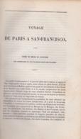 ALEXANDRE ACHARD. VOYAGE DE PARIS A SAN FRANCISCO. CALIFORNIA, 19TH CENTURY Gold Rush. Ruée Vers L'or. - Books, Magazines, Comics