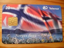 Phonecard Norway - Flag - Norwegen