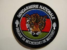 ECUSSON GENDARMERIE NATIONALE BRIGADE RECHERCHES MATOURY MCD GUYANE  ETAT EXCELLENT SUR VELCROS - Police & Gendarmerie