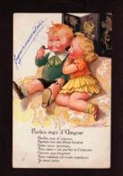 Illustrateur Dessin Signé Mauzan / Parlez Moi D'Amour ( Enfants Fumant La Pipe - Mauzan, L.A.