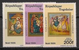 Togo - 1986 - Poste Aérienne PA N°Yv. 624 à 626 - Noel - Neuf Luxe ** / MNH / Postfrisch - Togo (1960-...)