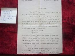 WW2-Lettre 1942 Courrier CHANTIER De JEUNESSE Chef Paul Jacquey Le Lavandou Var Guerre 1939-45 Pétain Ss Régime De Vichy - Marcophilie (Lettres)