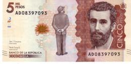 Colombia P.459 5000 Peso 2017 Unc - Colombia