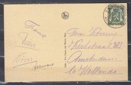 Postkaart Van Huy 1 Centre Touristque Naar Amsterdam - 1935-1949 Klein Staatswapen