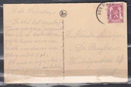 Postkaart Van Den Haan Naar Gent - 1935-1949 Klein Staatswapen