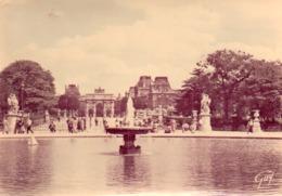 CP 75 Paris Tuileries Jardin Deuxième Plan Arc Triomphe Carrousel Et Ses Merveilles  9008 Guy Leconte - Other Monuments