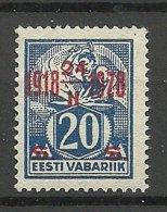 Estland Estonia 1928 Michel 72 * - Estland