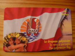 Phonecard French Polynesia - Flag - Frans-Polynesië