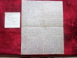 WW2-Lettre 1942 Courrier CHANTIER JEUNESSE Chef Paul Jacquey Bourg-Saint-Andéol Guerre 1939-45 Pétain Ss Régime De Vichy - Marcophilie (Lettres)