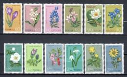 Poland 1962 Mi 1325-1336 MNH FLOWERS - Unused Stamps
