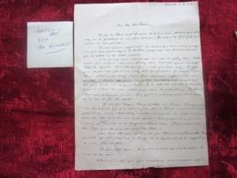WW2-Lettre 1941 Courrier CHANTIER JEUNESSE Chef Paul Jacquey Merindol Guerre 1939-45 Pétain Ss Régime  Vichy - Marcophilie (Lettres)