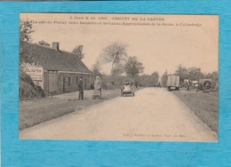 Circuit De La Sarthe, 1906. La Côte Du Perray Entre Bouloire Et Saint-Calais, Appropriation De La Route : Le Cylindrage. - Frankrijk
