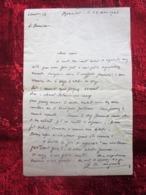 WW2-Lettre 1942 Courrier CHANTIER JEUNESSE 13 Chef Paul Jacquey Merindol Guerre 1939-45 Pétain Ss Régime  Vichy - Marcophilie (Lettres)