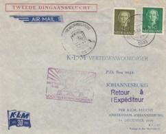 Nederland Brief 2e Dingaansvlucht 1949 - 1949-1980 (Juliana)