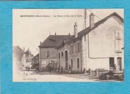 Montbozon. - La Poste Et Rue De La Gare. - Francia