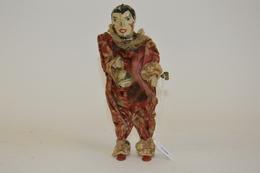 FERNAND MARTIN (attribué à): Clown Mécanique Au Grelot. Tôle Peinte Et Tissus. Hauteur: 20 Cm. Début XXème.  Usures. - Other Collections