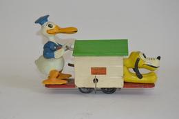 THE LIONEL CORP. USA, Donald Duck Hand Car. 1936. Réf. 1107. Elément De Train Mécanique écartement Zéro. Tôle Peinte Et  - Otras Colecciones