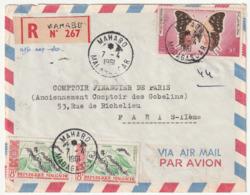 MADAGASCAR - LETTRE Recommandée : MAHABO Le 07/04/1961 - Madagascar (1960-...)