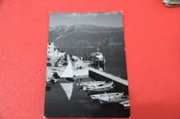 Lago Di Garda Brescia Gargnano Porto E Lungolago Con Piroscafo 1959 - Brescia
