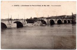 CPA Nantes 44. Ecroulement Du Pont De Pirmil, 26 Mai 1924, Vue D'ensemble, 1924 - Nantes