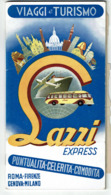C1950 - LAZZI Express - 60 Pages - Autocar - Italie Roma-Firenze-Genova-Milano - Pub Michelin - 7 Scans - Dépliants Touristiques