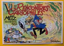 8894 - 6es Rencontres Cartophiles Metz 1984 Illustration Bernard Ferreira - Bourses & Salons De Collections